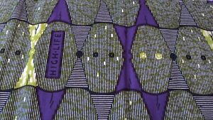African Ankara 100% Cotton Print for Dress Making & Craft 6 Yards Purple & Green
