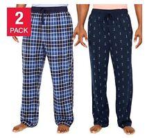 Nautica Men's Sueded Fleece Pajama Pants 2 Pack Blue Large