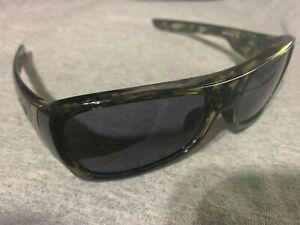 Oakley Montefrio Olive Tortoise/Grey 56-14 Sunglasses #03-561 with gold hardware