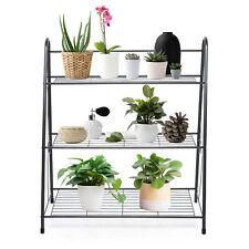 New listing 3Tier Metal Plant Stand Flower Pot Holder Indoor Outdoor Storage Shelf Organizer