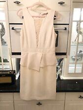 Ladies Elegant Cream Lace Pencil Dress Smart Wedding Forever 21 Size 8-10 NEW