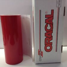 "Oracal 651, 1 Roll 12"" x 10 ft. Red #031 Vinyl for Craft,Sign,Cutter"