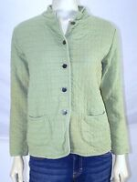 Coldwater Creek Green Long Sleeve Button Front Sweater Womens Size XS 0 2