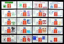GB Machin Stivali etichette - 20 diversi esposizione OVERPRINTS nuovo prezzo di vendita