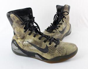 Nike Men's Beige Brown Faux Snakeskin Leather Kobe 9 High EXT QS Sneaker Shoe 9