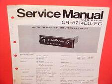 PANASONIC CAR AM-FM-MPX RADIO FACTORY SERVICE MANUAL MODELS CR-5714EU 5714EC