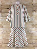Vtg Skirt Blouse Shirt Top Outfit Set 2 Piece Sz 12 Minimalist Hippie Retro 70s