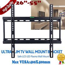 Wall Mount TV Bracket Slim Flat 26 30 32 34 40 42 50 55 inch LCD LED PLASMA