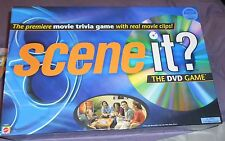 SCENE IT BOARD GAME- THE DVD GAME- MOVIE TRIVIA GAME W/ REAL MOVIE CLIPS