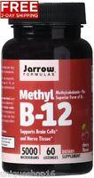 JARROW FORMULAS METHYLCOBALAMIN METHYL B12 SUPPORTS BRAIN CELLS 5000 MCG NEW