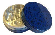 "2"" inch 2 Piece Painted Metal Aluminum Herb Spice Tobacco Grinder Blue Black"