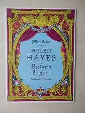 1935 - Broadhurst Theatre Playbill - Victoria Regina - Helen Hayes - Price