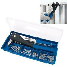 Draper Hand Riveter Pop Rivet Gun 2 Way Supplied with Assorted Rivets Case 27848