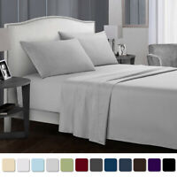 4pcs Bed Sheet Set Deep Pockets 1800 Count Wrinkle Free Soft Hotel Bedding Cover