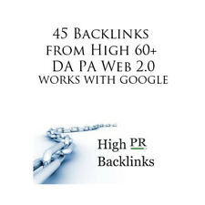 45 Profile Backlinks from High 60+ DA PA Web 2.0 that work with google.