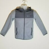 Under Armour Cold Gear Youth Jacket Medium Gray with Hoodie