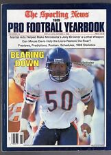 1989 THE SPORTING NEWS PRO FOOTBALL YEARBOOK-MIKE SINGLETARY-CHICAGO BEARS