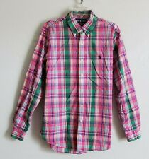 NEW Polo RALPH LAUREN Pink Plaid Custom Fit Button Down Shirt Mens L Easter NWOT