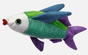 🌈 Ty Beanie Babies Propeller The Flying Fish 2001 - NMMT PE Pellets Error Tags