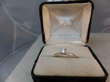 KAY 14K WHITE GOLD .31 carat ROUND BRILLIANT CUT ENGAGEMENT RING IGI CERT