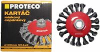 Rotary Twist Knot Steel Bevel Wire Brush Crimp Angle Grinder 100 mm M14 PROTECO
