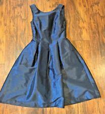 Alfred Sung Women's Navy Blue Dark Blue Dress Formal Bridemaid Sz 4-6 Small