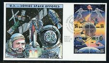 US Hand-Painted FDC by COLLINS: Scott #2634a US SOVIET SPACE NASA (1992) $$$