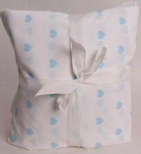 Pottery Barn Kids Heart twin sheet set, aqua blue *sample*