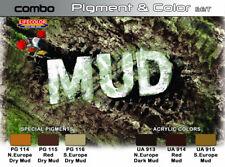 LIFECOLOR Detailing Set SPG05 - Mud Reproduction Color - 6x22ml Acrylic Paints