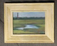 """Almost At The Shore"" original oil painting signed framed Seascape New Jersey"
