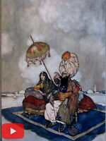 Edmund Dulac Orientalism Art Nouveau c.1907 India old color print lot x 10 image