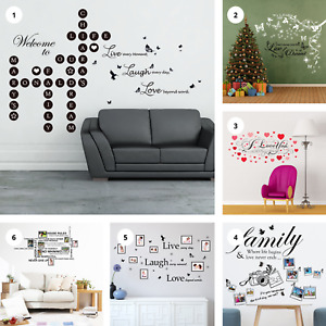 Inspirational Home Quotes Wall Sticker Art Home Living Room Decor Quote Decal