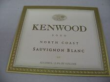Wine Label: KENWOOD 2000 Sauvignon Blanc North Coast