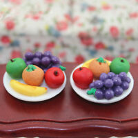 1:12 Doll House Miniature food fruit dish with grape  for doll's kitchen mi