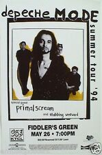 DEPECHE MODE/PRIMAL SCREAM 1994 SUMMER TOUR DENVER CONCERT POSTER-New Wave Music