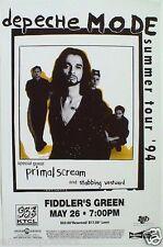 Depeche Mode/Primal Scream 1994 Summer Tour Denver Concert Poster-New Wave Music