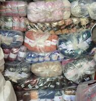 ****BIG**** BUNDLE KNITTING CROCHET WOOL/YARN BALLS 1000g RANDOM MIXED JOBLOT
