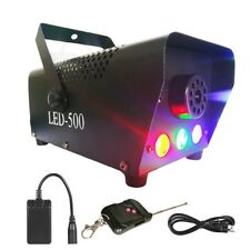 Maquina Para Hacer Humo DJ Portatil Inalambrica Con Luces LED Fog Fiestas Clubs