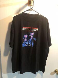 VINTAGE Jean Claude Van Damme Shirt 2XL Black Universal Soldier 1992