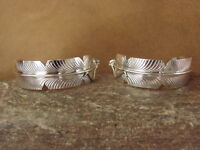 Native American Indian Jewelry Sterling Silver Feather Earrings Chris Charley