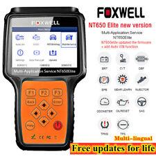 FOXWELL NT650 Elite OBD2 Diagnostic Scanner ABS SRS Bleeding TPMS DPF Oil Reset