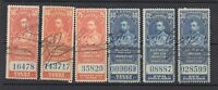 6 Different MNH Canada Electricity and Gas Inspection Stamps (Lot #RR111)