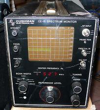 Cushman CE15 Spectrum monitor