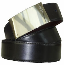 Cintura Belt 100% Pelle Made in Italy CALVIN KLEIN Nero Black Man Uomo Tg. 11...