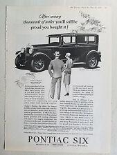 1928 Pontiac Six 4 Door Sedan Car Be Proud You Bought It Original Ad