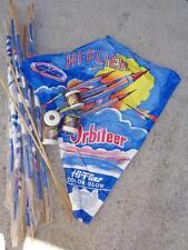 Vintage NOS Hi-Flier Orbiteer kites, Color Glow plastic with string, lot of 5