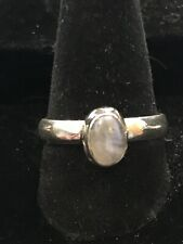 Sterling Silver  Solid .925 Moonstone Ring Size 8