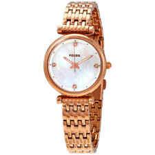 Fossil Carlie Crystal White MOP Dial Ladies Watch ES4429