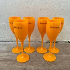 6 x Veuve Cliquot Clicquot Orange Glasses Flutes Cup Ice Champagne 1611203