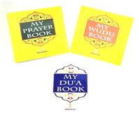 My Prayer Book / My Wudu Book / My Dua Book  (Set of 3)